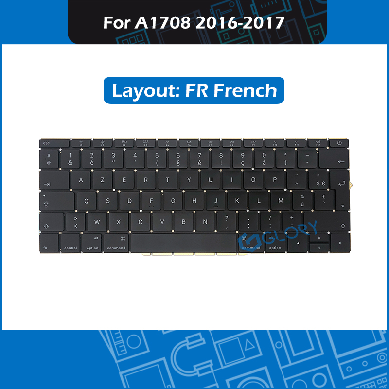 New A1708 FR French Keyboard For Macbook Pro Retina 13 A1708 keyboard Replacement 2016 2017 image