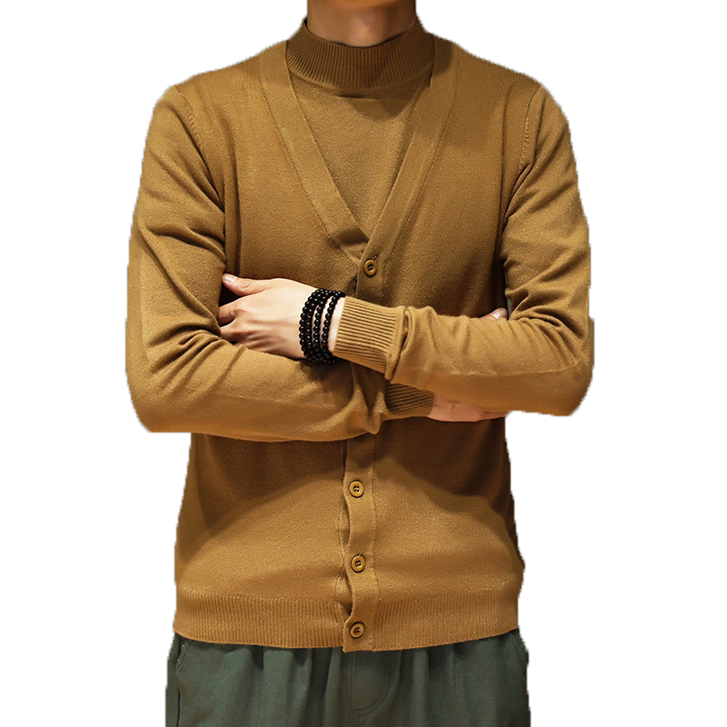 Knitted Sweater Pullover Male Autumn Men Winter Casual Brand Computer