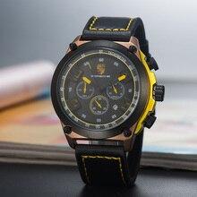 New sports car watch fashion casual fan three-eye pointer quartz  mens