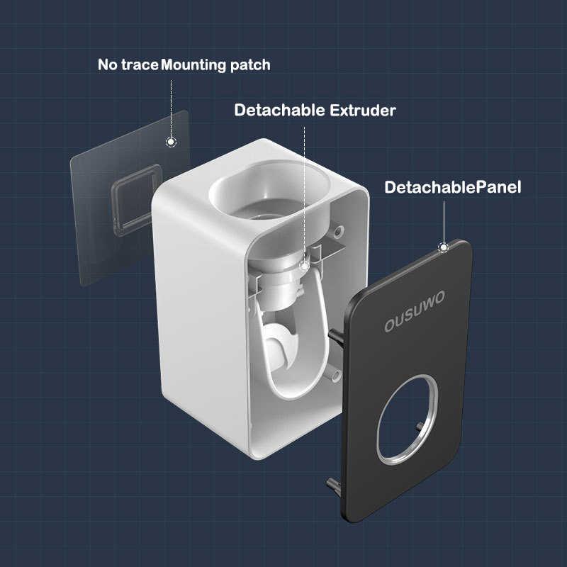 อัตโนมัติผู้ถือยาสีฟันติดผนัง Punch ฟรีอุปกรณ์ห้องน้ำ Rack/ความสะดวกสบาย/Thrift บีบยาสีฟัน Artifact
