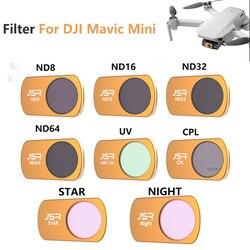 Filtr obiektywu dla DJI Mavic Mini zestaw filtrów Drone ND 8 16 32 64 Drone filtr obiektywu kamery filtr obiektywu dla DJI Mavic Mini akcesoria do dronów