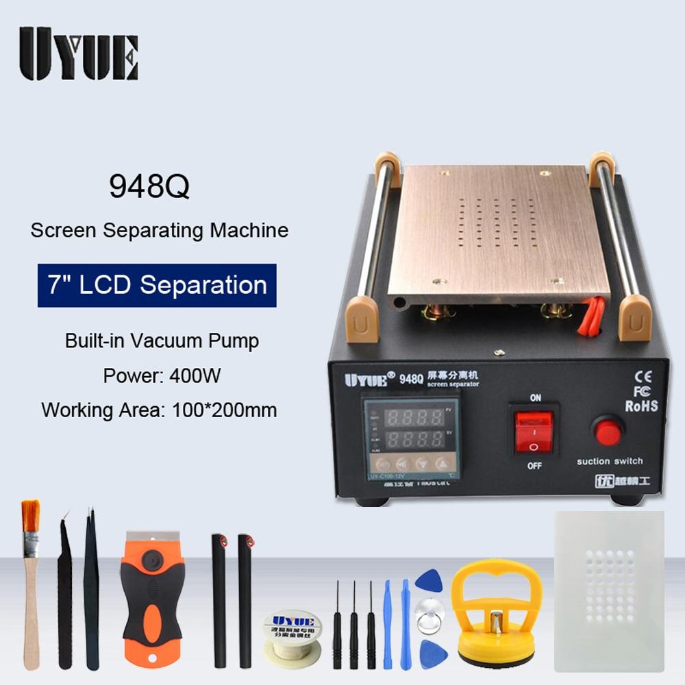 "UYUE 7""Inch Built-in Vacuum Pump LCD Touch Screen Preheat Separator Machine For Phone Repair Heating Split Screen Platform"