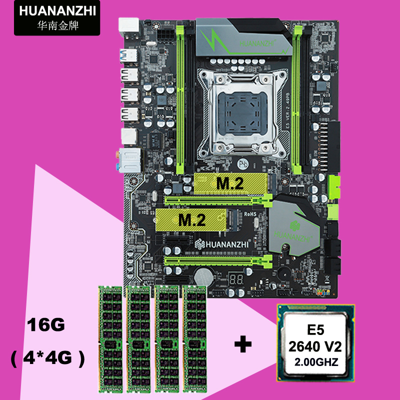 HUANANZHI X79 motherboard CPU RAM combo discount motherboard with M.2 slot motherboard with CPU Xeon E5 <font><b>2640</b></font> V2 RAM 16G(4*4G) image
