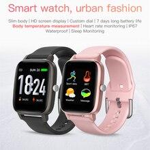 Reloj inteligente T98 IP67, dispositivo portátil impermeable, podómetro Bluetooth, Monitor de ritmo cardíaco, pantalla a Color, reloj inteligente para Android IOS
