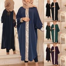 Dress Islamic Sequins Clothing Ramadan-Robe Musulmane Arabic Abaya Dubai Caftan Turkish