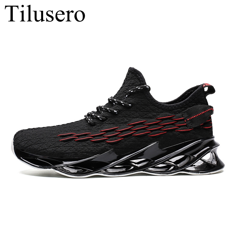 Men's Shoes Autumn New Fashion Trend Fish Scales Flying Woven Casual Shoes Non-slip Wear-resistant Men's Sports Shoes