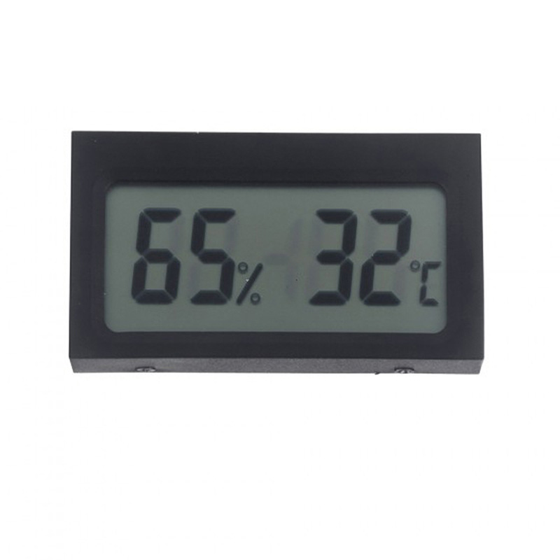 Home Small Thermometer Humidity Meter Digital Indoor Thermograph Hygrometer Hydrothermograph for School Office Market Warehouse