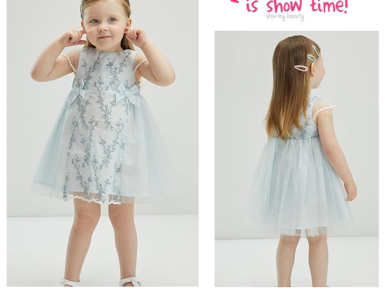 Db18082 vestido infantil de verão, vestido longo