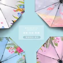 Umbrella Women's Black Umbrella New Style Vinyl Parasol Manufacturers Wechat Business a Generation of Fat