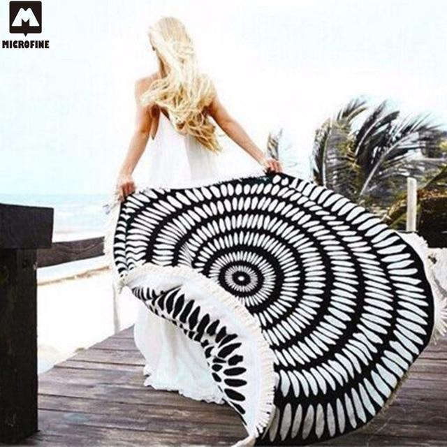Round Microfiber Tessellate Mandala Beach Towel - Beach Blanket 1