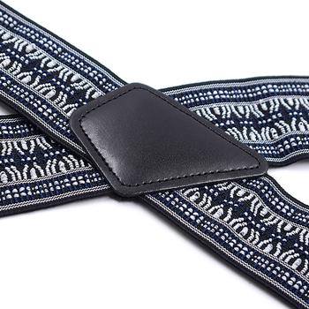 Męskie wytrzymałe duże rozmiary regulowane wysokie elastyczne szelki szelki 5cm szerokości w kształcie litery X 4 mocne klipsy spodnie do spodni pasek na pasek tanie i dobre opinie KBAP CN (pochodzenie) POLIESTER W paski Dla osób dorosłych moda 48 dla osób o wzroście 5 9-6 2 42 dla osób o wzroście 5 0-5 9