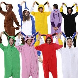 Cotton Adult pajamas Pocket Monster Umbreon Eevee Flareon Kigurumi Cartoon Animal Anime clothes Lovely Cosplay Lovers Costume(China)