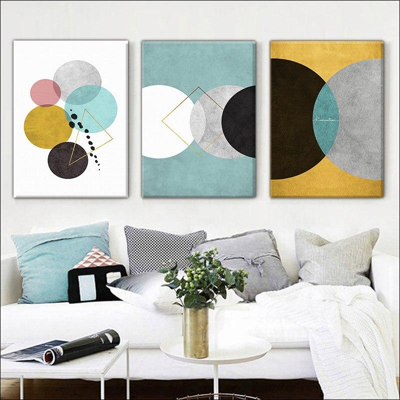 Современная рамка «сделай сам» домашняя декорация желтая Геометрическая