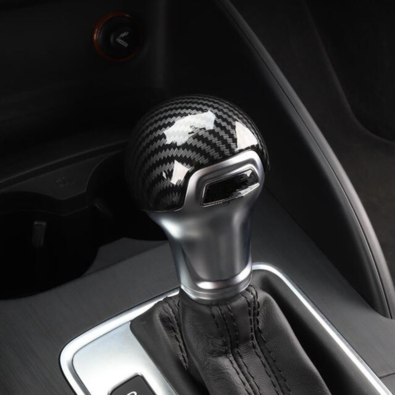 Gear Shift Handle Protection Sleeve Cover Trims For Audi A3 8V 2014-2018 ABS Carbon Fiber Color Car Styling Modified