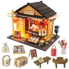 Миниатюрный Кукольный домик «сделай сам» кукольный мебель в