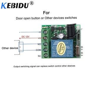 Image 2 - Kebidu 12V RF Sender Schalter 433Mhz Fernbedienungen Mit Wireless Fernbedienung Schalter Licht Relais Empfänger Modul 1PCS