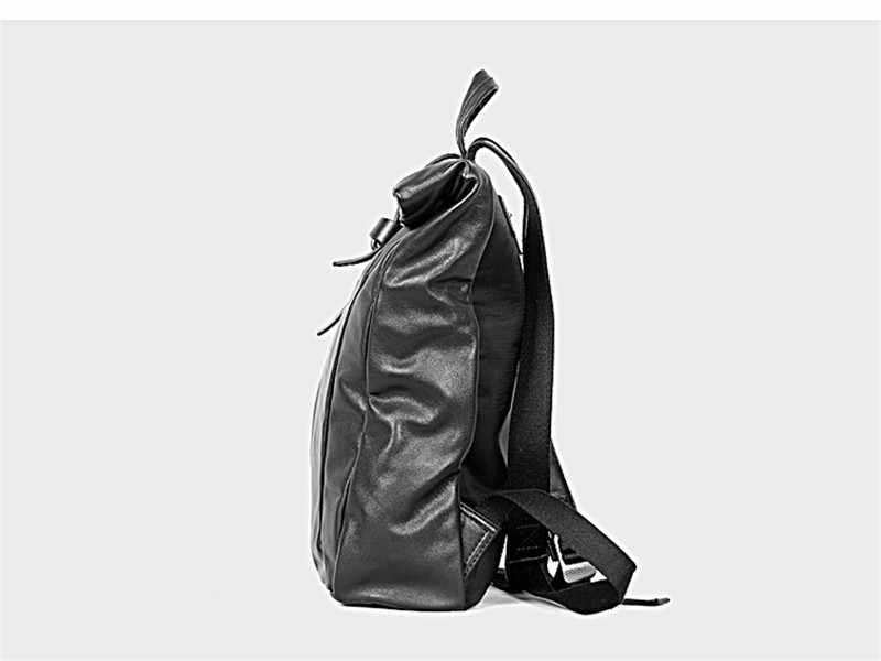 PNDME высококачественный мужской рюкзак из натуральной кожи, дизайнерский роскошный рюкзак из натуральной воловьей кожи для ноутбука, повседневный черный дорожный рюкзак