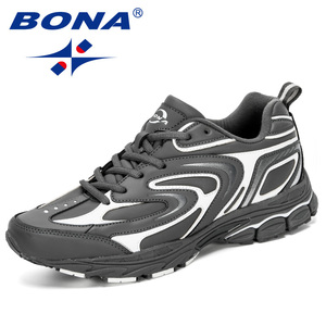 Image 4 - מעצבי BONA החדש פרה פיצול גברים ריצה נעלי Trendt ספורט נעלי גבר פופולרי סניקרס חיצוני הנעלה