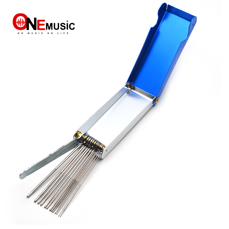 Portable DIY Guitar Repair Tools Box Guitar Nut Slotting File Saw Rods Slot Filing Set Luthier Replacement Guitarra Accessories