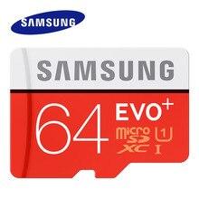 SAMSUNG EVO+ карта памяти 64 Гб MicroSDXC класс 10 UHS-I TF/SD карты Micro SD 16 Гб транс флэш MicroSDHC 16 ГБ для смартфонов