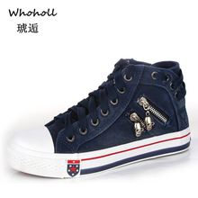 Whoholl Women Sneakers Casual Vulcanize Shoes Tenis Feminino Comfy Canvas Shoes Ladies Lace Up Trainers Women Zapatos Mujer 2019