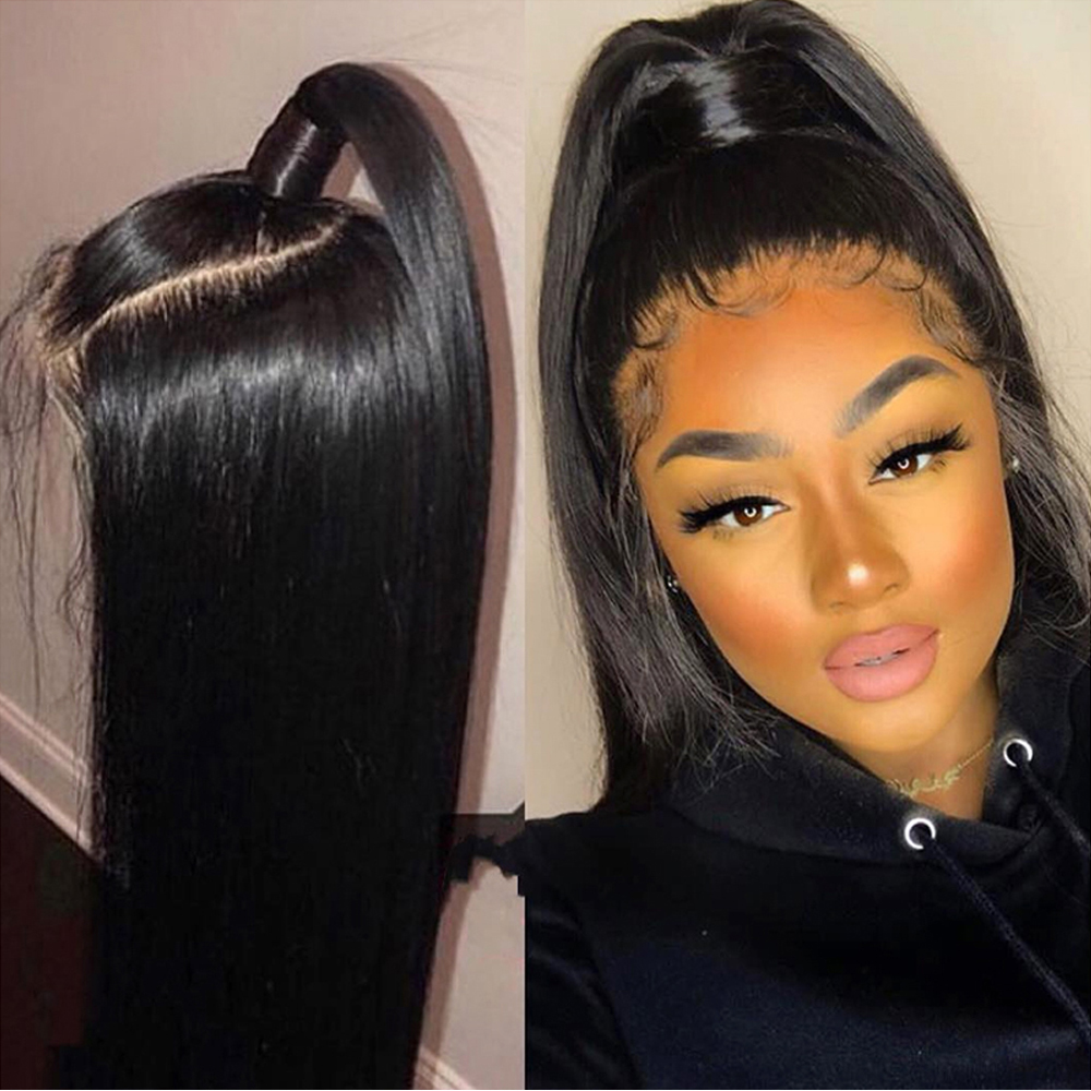 4X4 Lace Closure Wig Peruvian Human Hair Wigs For Women Pre Plucked With Baby Hair Natural Hairline 100%Human Hair Wig BeauHair