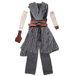 Image 4 - Star Rey War Cosplay Costume Kids Jedi Warrior Obi Wan Kenobi Black Soldiers Storm Troopers The Force Awakens Girls Fancy Dress