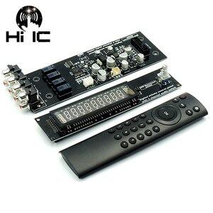 Image 1 - Panneau de Volume à distance à affichage Fluorescent sous vide VFD commutateur de Signal Audio à 4 voies sélecteur de commutateur carte de préamplificateur Audio HiFi