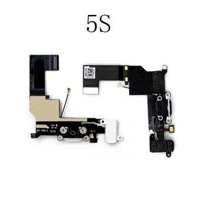Image 3 - LEOLEO USB зарядный порт док станция для зарядки с гибким кабелем для iPhone 4G 4S 5G 5S 5C SE 6G 6 plus 6S Mircophone с аудиоразъемом и наушниками