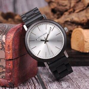 Image 4 - קידום מכירה BOBOBIRD שעון עץ גברים נשים קוורץ שעוני יד חג המולד מתנה הטובה ביותר מתנה בתיבה montre homme