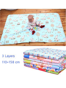 Nappy Urine-Pad Mattress Changing-Mat Bedding Waterproof Sheet Infant Baby Reusable Cartoon