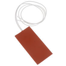 15W 12V DC 50X100mm Flexible Waterproof Silicon Heater Pad Wire Heater Engine Block Oil