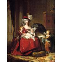 Classical portrait paintings Marie Antoinette and her Children Elisabeth Vigee Lebrun Canvas Art reproduction Hand painted