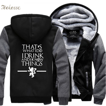 Game of Thrones Hoodies Sweatshirt Thats What I Do Drink and know Things Hoodie 2018 New Winter Thick Hooded MenSweatshirts