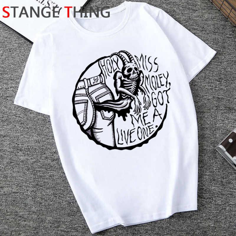 Satana Horror T Degli Uomini Della Camicia Demone Morte Spaventoso Male T-Shirt Satanismo Grim Reaper Baphomet Tshirt Satanist Unisex Hiphop Top Tee maschio