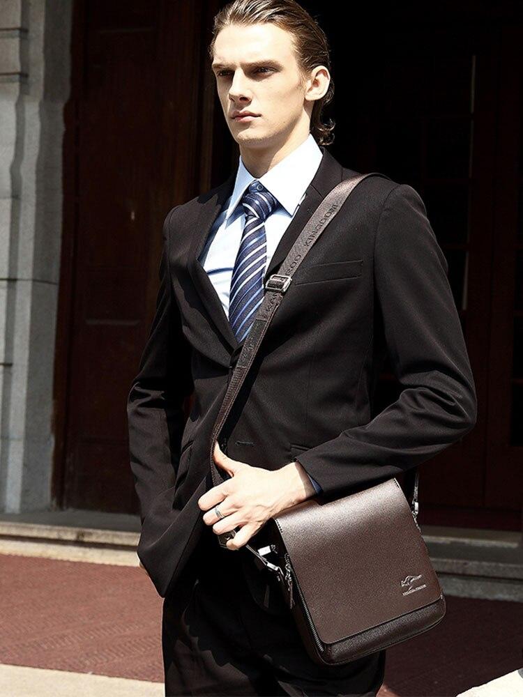 Messenger-Bags Crossbody-Bag Quality-Pu-Leather Men's Luxurious Fashion-Brand Business