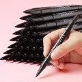Двухсторонние жирные маркеры Кисть ручка крючок линия штрихи черный маркер быстросохнущая Водонепроницаемая ручка не выцветает художеств...