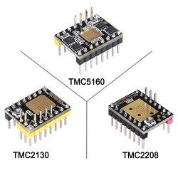 Bigtreetech tmc2130 v3.0 driver de motor deslizante tmc2208 uart tmc5160 spi stepstick silencioso peças impressora 3d skr v1.3 pro placa mks