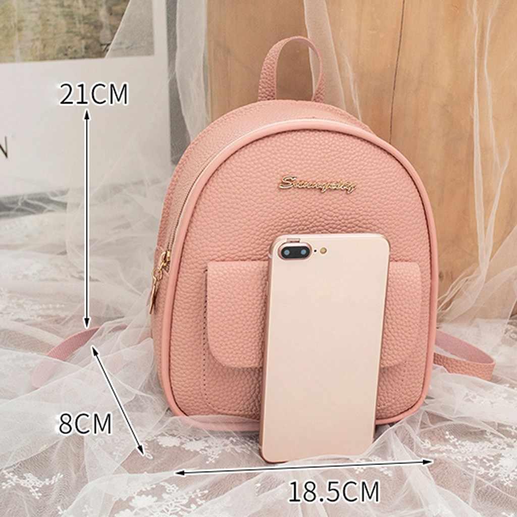 Mini Rucksack Frauen Pu Leder Schulter Tasche Für Teenager Mädchen Kinder Multi-funktion Kleine Bagpack Weibliche Damen Schule Rucksack #10