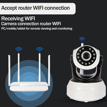цена на Night Vision Alarm Camera Surveillance Camera 720P Wireless IP Camera Wifi Security  Indoor Baby Monitor Two-Way Audio IR-Cut