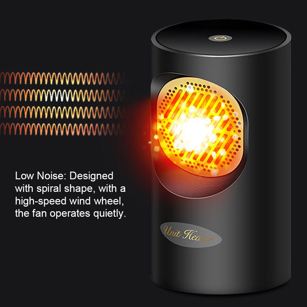 Portable Warmer Fan Space Warmer Heating Electric Heater Dual Use Summer Air Cooler 2-in-1 Heating/Cooling For Home Office