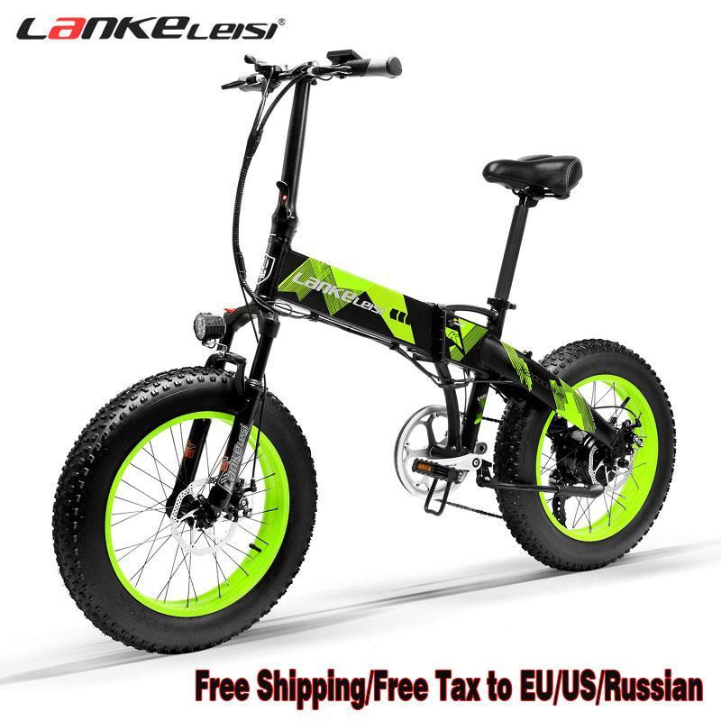 Electric Bike Lankeleisi X2000 48V 1000W 14.5AH LG Lithium Battery Spokes wheel EBike Fat Tire Ebike 7 Speeds Foldable