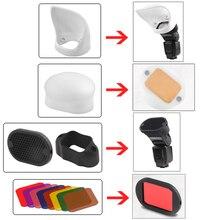 Kamera Fotografie Flash-kit Diffusor Abdeckung Weichen Fall Waben Farbe Filter Für GODOX V1 V860II YONGNUO 600EX-Zubehör