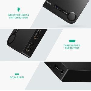 Image 5 - Ugreen interruptor HDMI 4K para Xiaomi Mi Box, 3 puertos, 3 en 1, salida HDMI, concentrador divisor para Xbox 360, PS4, con interruptor de Control, HDMI