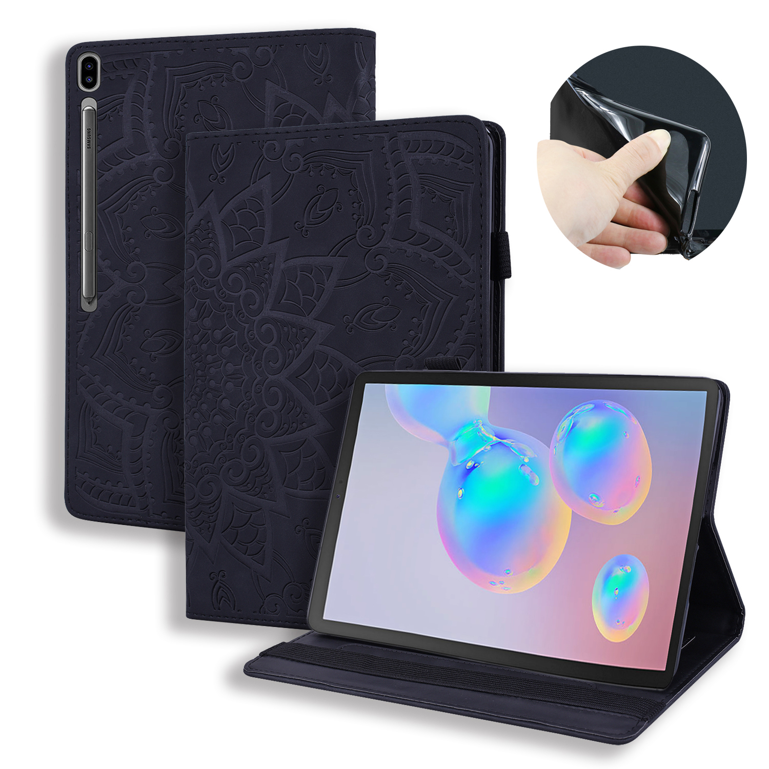 10.5 Inch For Samsung T860/T865/Tab S6 Silicone Soft Back 2019 Pu Leather Smart Case for Samsung T860/T865/Tab S6 image