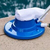 Aspirador de estanque portátil con bolsa de malla, Herramientas de limpieza para piscina, elementos para exteriores