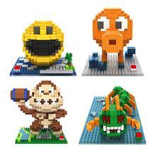 hot LegoINGlys creators pixel game war figures king kong Qbert zombie mini micro minicraft diamond blocks model bricks toys gift