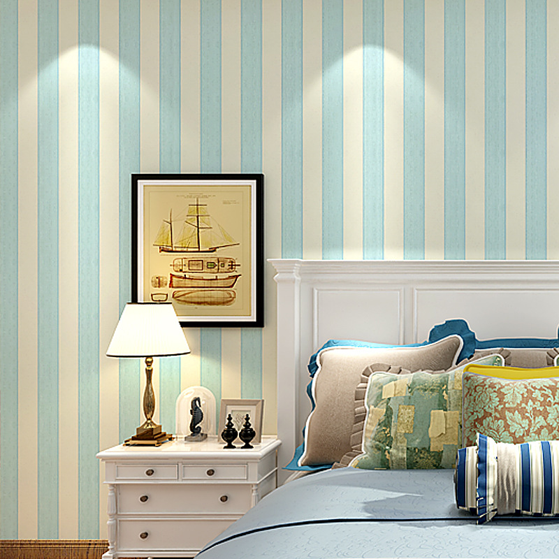 Modern Concise Colorful Bold Stripes And Thin Stripes Wallpaper Hotel Engineering Classic 3D Wall Decor For Living Room Bedroom
