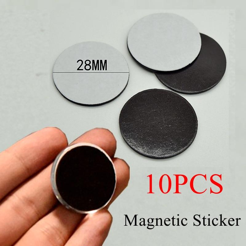 10 pçs conjunto 23mm/28mm redondo adesivo magnético caber vidro cabochão 25mm 30mm geladeira ímã diy geladeira adesivos suprimentos
