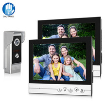 9inch Color Wired Video Intercom System Video Doorbell Doorphone Monitor + 700TVL Metal Outdoor Camera IR Night Vision 100 Meter